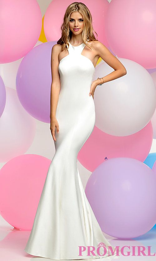 Long Mermaid Prom Dress with Low Cut-Out Back   moda casual elegante ...