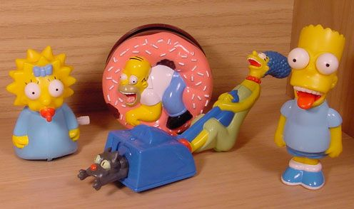 Simpsons Toys At Burger King Simpsons Toys Simpson Toys