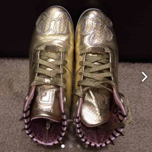c52f66dec0b Reebok Melody Ehsani Studded Sneakers Gold sneakers