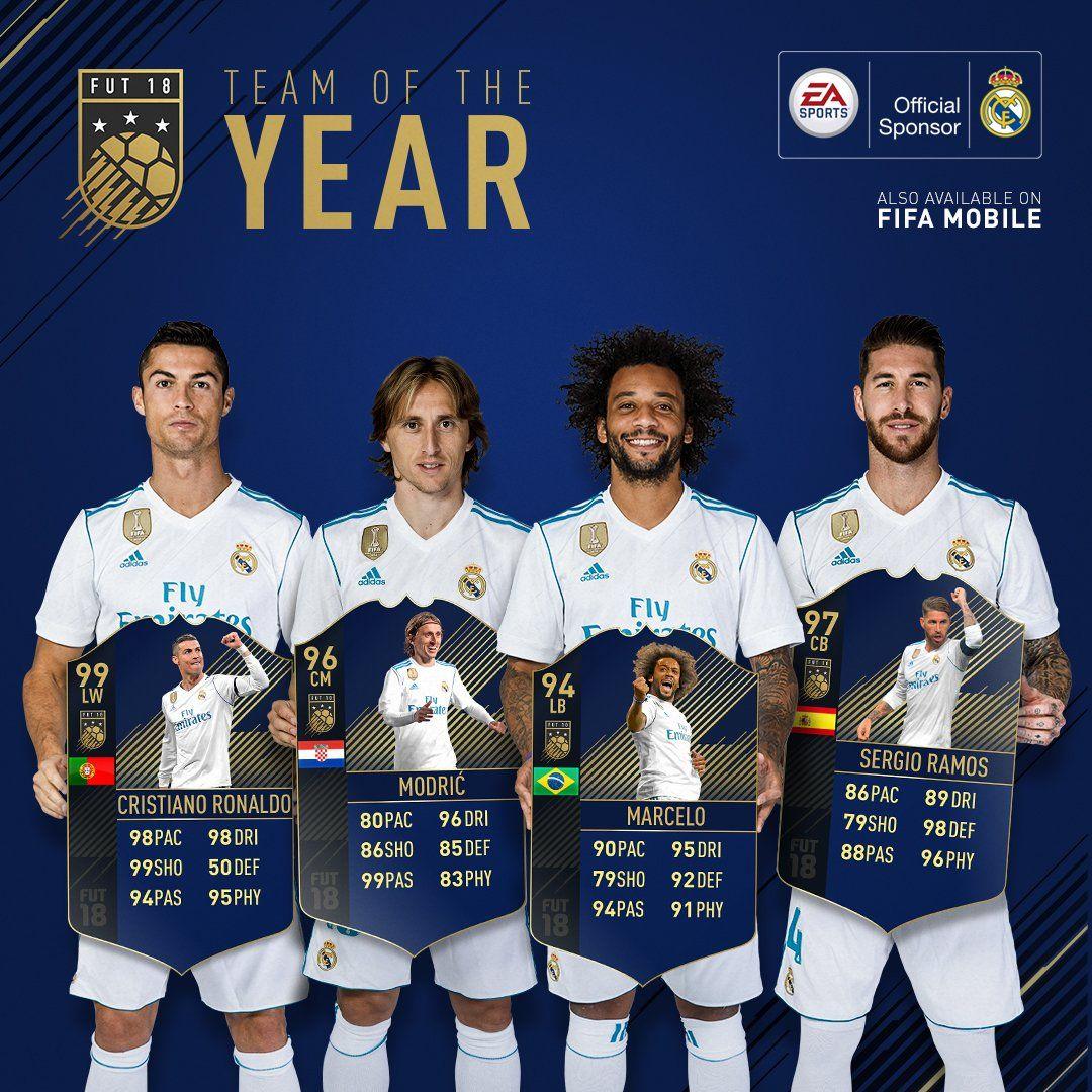 #FIFA18 FUT Team Of The Year!