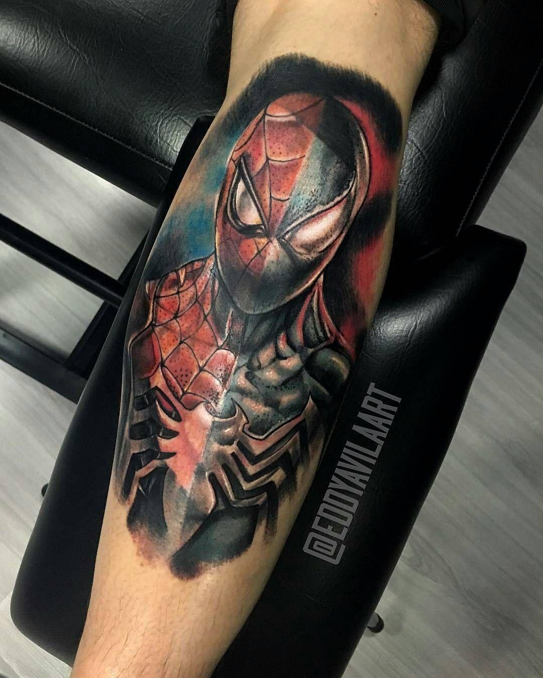 Tatuajes Bogota Unicentro from @eddyavilaart - spider-man & the symbiote suit spelit! #tattoo