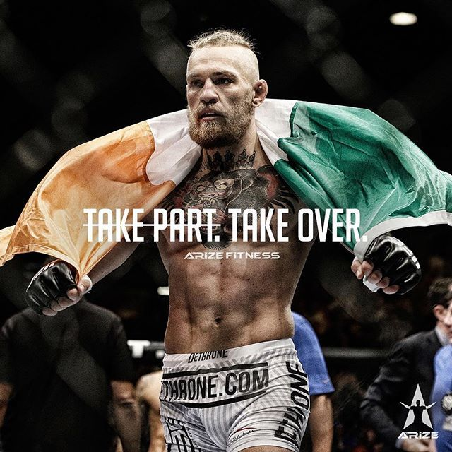 Arize Fitness On Instagram We Re Not Here To Take Part We Re Here To Take Over Escape The Ordinary Arize Ari Poster Pictures Mma Conor Mcgregor Poster