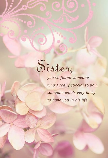 He S Lucky To Have You Sister Wedding Card In 2020 Sister Wedding Card Wedding Cards Keepsake Wedding Cards