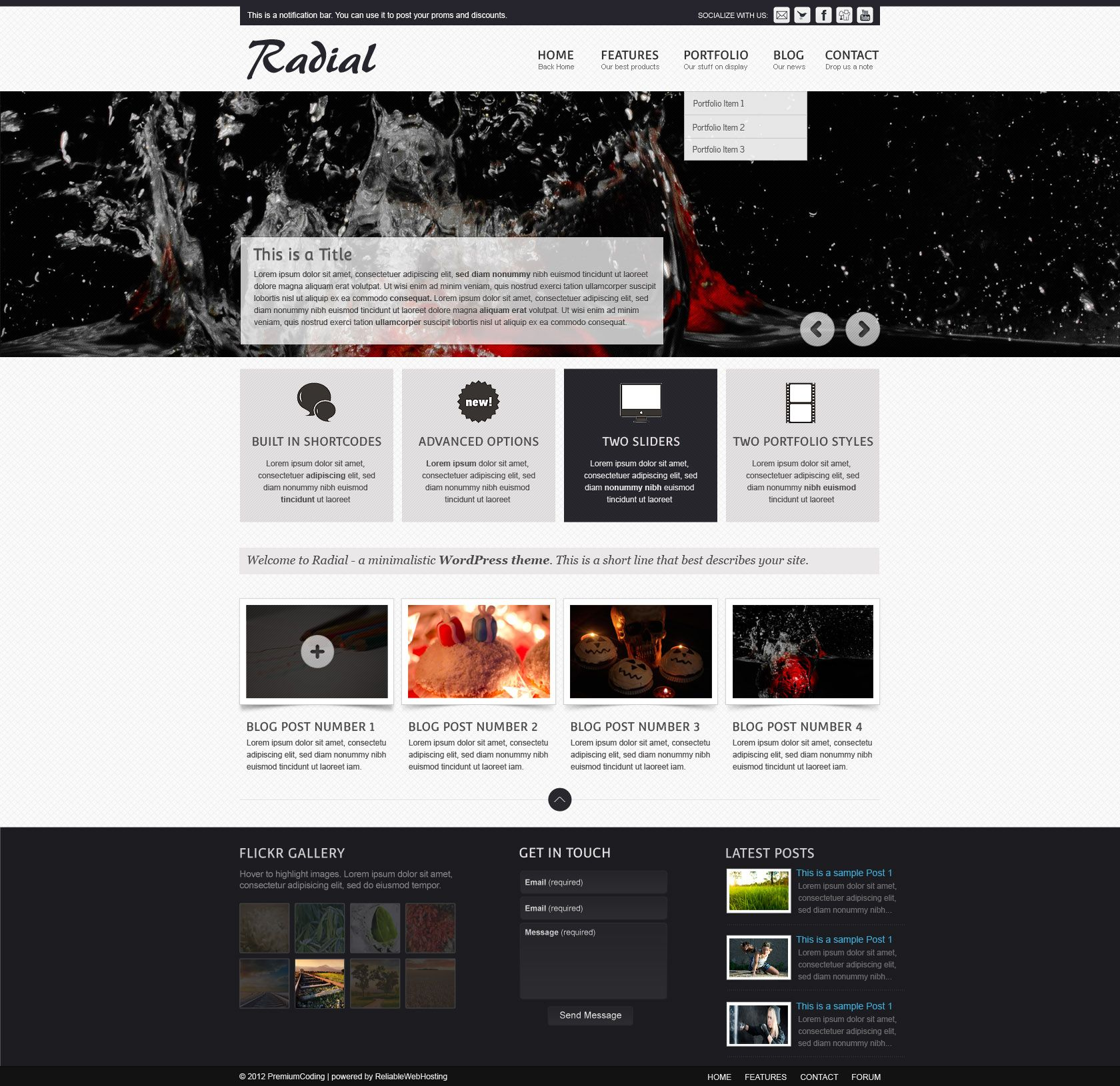 Download Radial Full Web Site Template (PSD) (3687) #webdesign ...