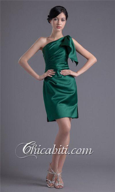 47e13ac1994c Verde Monospalla Elegante A Line Abiti da Cerimonia ACM280 Abiti Da Damigella  D onore Di