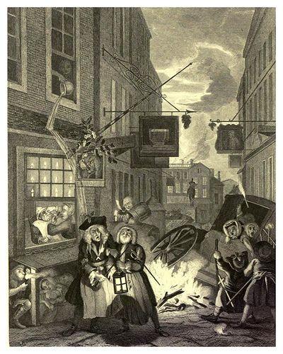 Grabados Noche Londinense William Hogarth Grabado Artistas