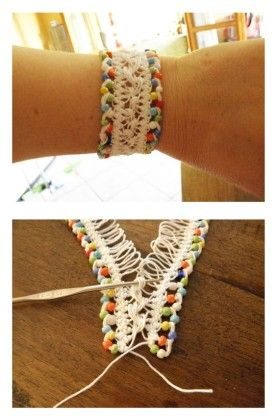 Hübsche Armbänder mit Mustern häkeln   – bileklik