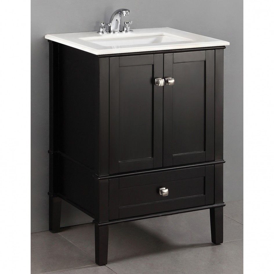 bathroom wooden black 24 inch bathroom vanity with two on replacement countertops for bathroom vanity id=83639