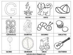 Dibujos Para Colorear Que Empiecen Con La Letra Ch Buscar Con Google Free Writing Paper Word Cards Spanish Language Arts