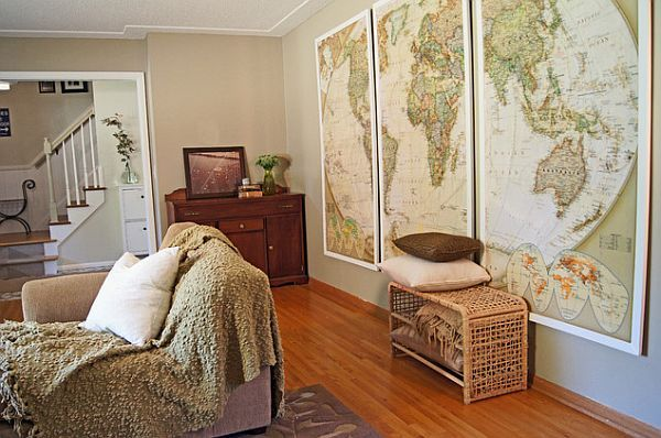 How to use old maps in home decor walls room and decorating how to use old maps in home decor framed mapswall mapsframed world gumiabroncs Image collections