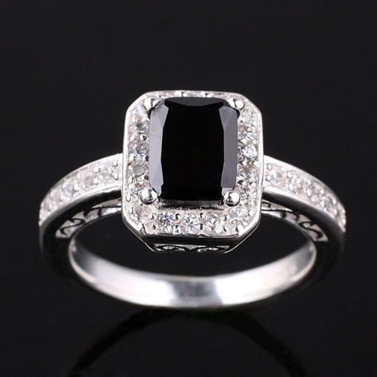 Onyx Rings for Women onyx women silver ring size 8 slim band