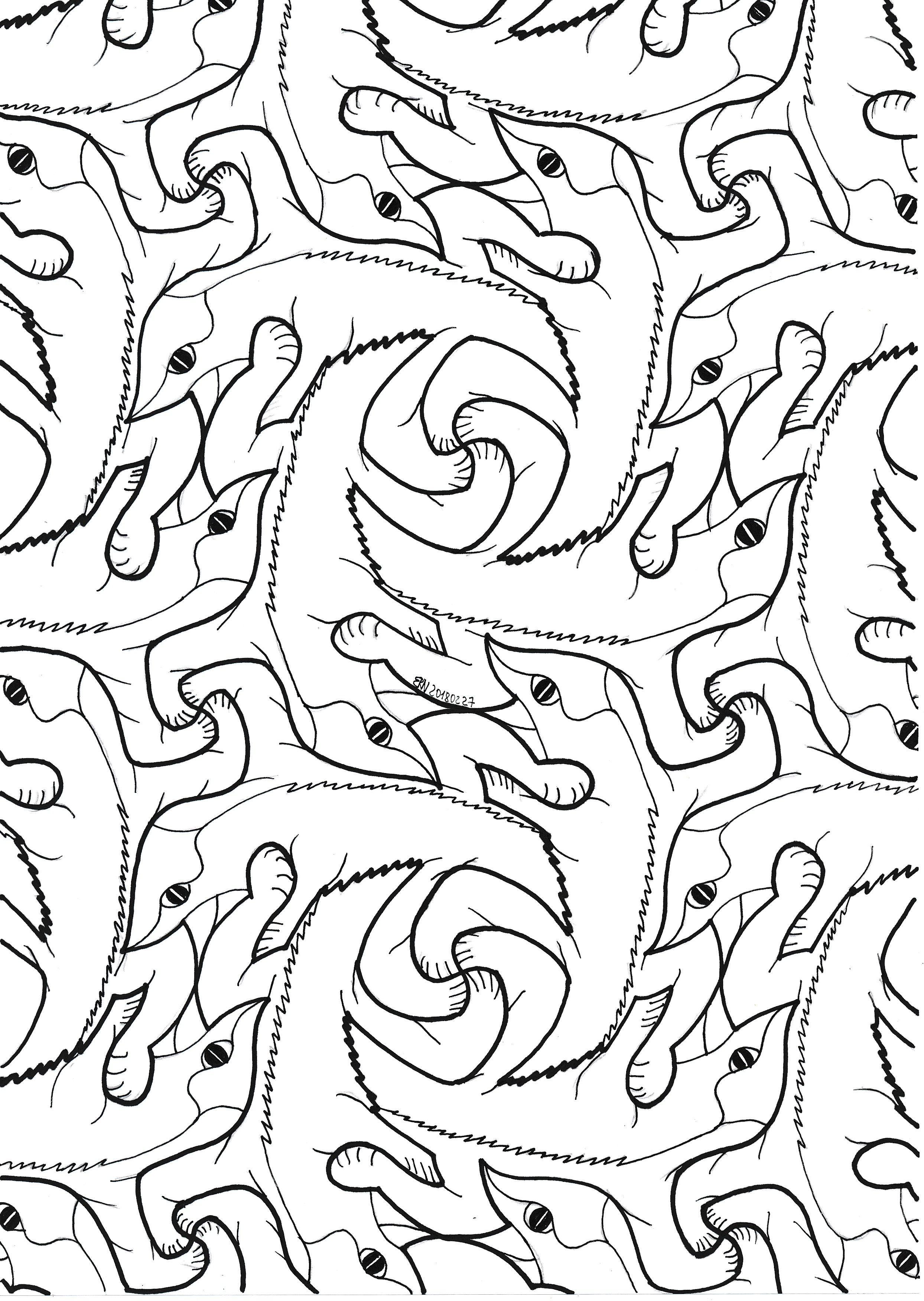 Mc Escher Nr 15 Geometry Symmetry Mathart Regolo54