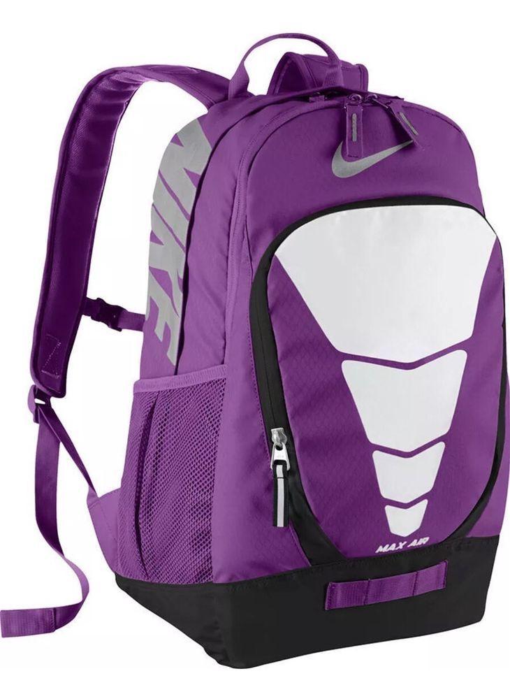 Nike Max Air Vapor Backpack BA4883 556 Purple Black Silver White ...