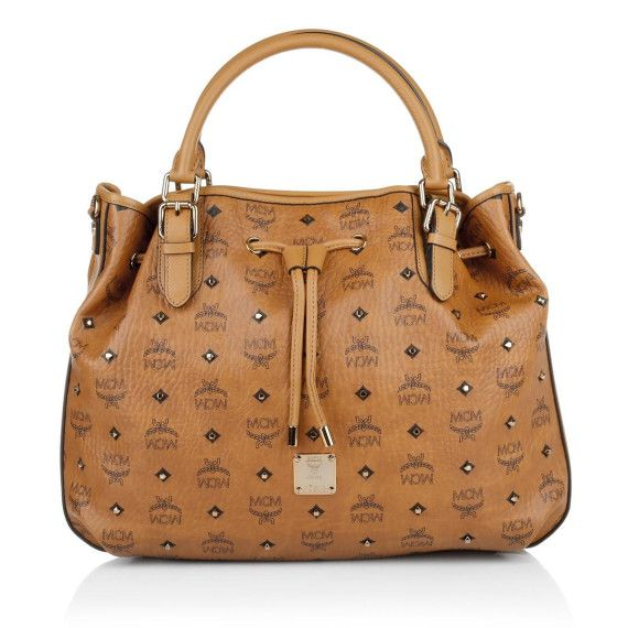 Gold Visetos Drawstring Medium Cognac in cognac | Tasche