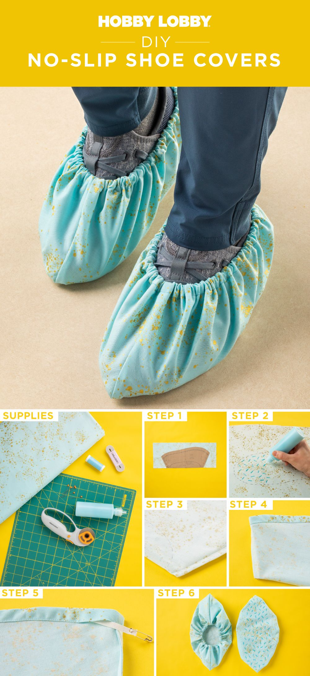 How To Make Shoe Covers : covers, No-Slip, Covers, Covers,, Shoes,, Shoes