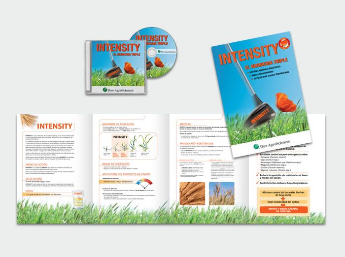 Diseño de folleto de producto. Dow AgroSciences.