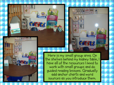 Guided reading area...