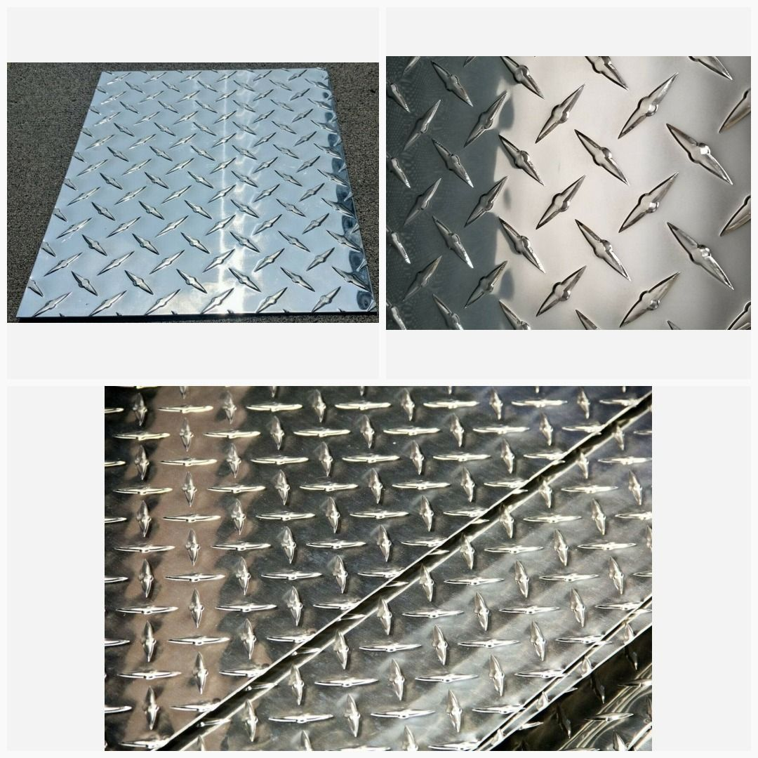 3003 H14 Aluminum Diamond Tread Plate Sheet 063 6 X 12 Diamond Plate Aluminum Sheets Aluminium Sheet