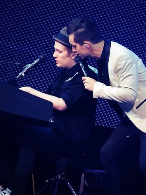 Patrick Stump And Brendon Urie Fall Out Boy Panic At The Disco Band Pictures
