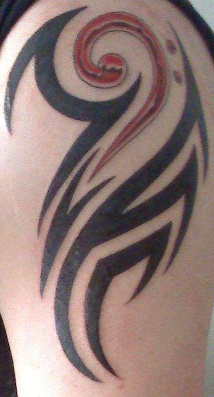 Tribal Bass Tattoo : tribal, tattoo, Tribal-bass-clef-tattoo-72152.jpeg, (432×802), Geometric, Tattoo, Design,, Music, Tattoos,