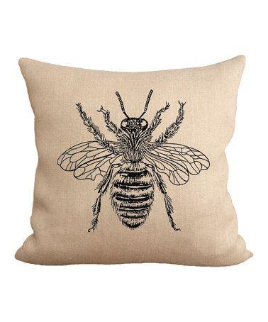 Love this Honey Bee Throw Pillow on #zulily! #zulilyfinds