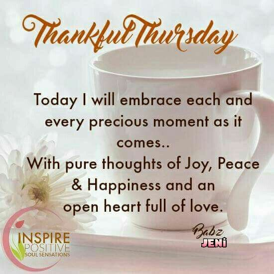 Inspirational Day Quotes: Thursday Blessings!