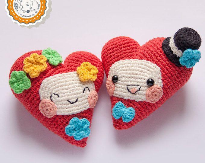 PATTERN -Fanny Hearts - crochet pattern, amigurumi pattern ...