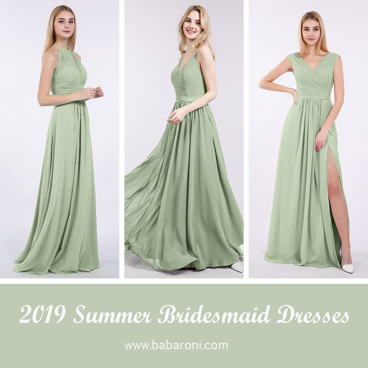Trending: Beautiful Dusty Sage Green Color Bridesmaid Dress Top 3 Bridesmaid Dress #sagegreendress