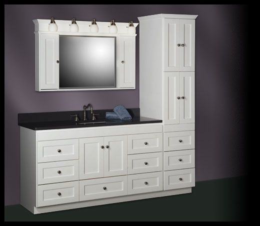 Strasser Shaker 60 Vanity With Linen Tower Bathroom Linen Tower