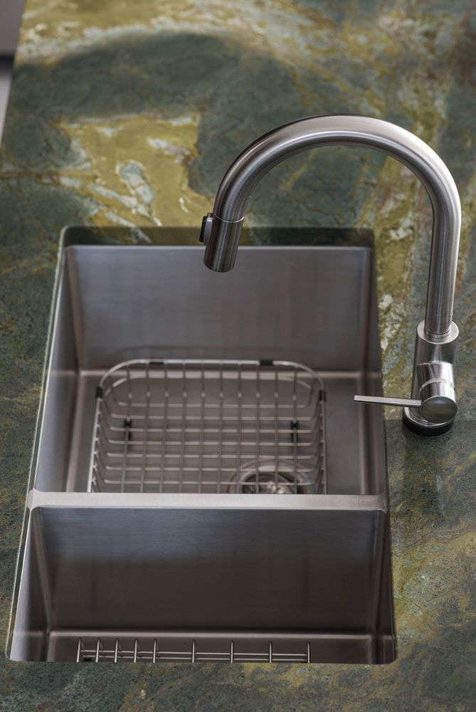 Franke Sink And Touch Less Faucet Make Clean Up A Breeze.