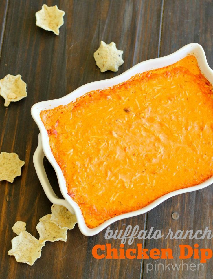 Deliciously easy Buffalo Ranch Chicken Dip Recipe | PinkWhen
