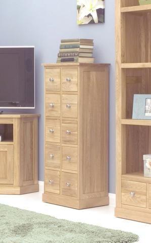Good Mobel Oak Multi Drawer DVD / CD Storage Chest
