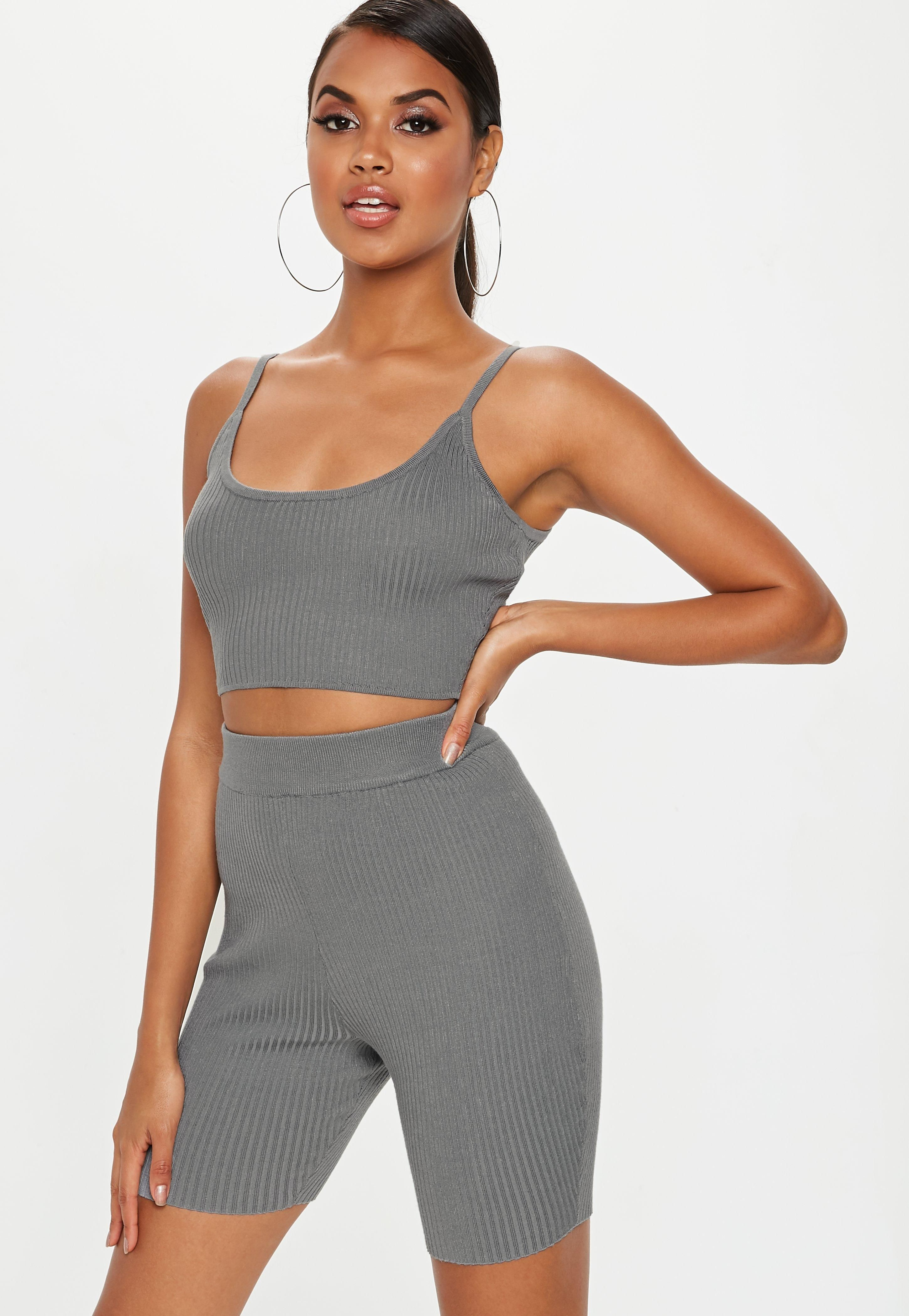 f1c482a208a grey-strappy-knitted-ribbed-crop-top #sweaters #fashion #sweater #jackets  #pants #sweaterweather #hoodies #jeans #dresses #style #winter #clothes  #shirts ...