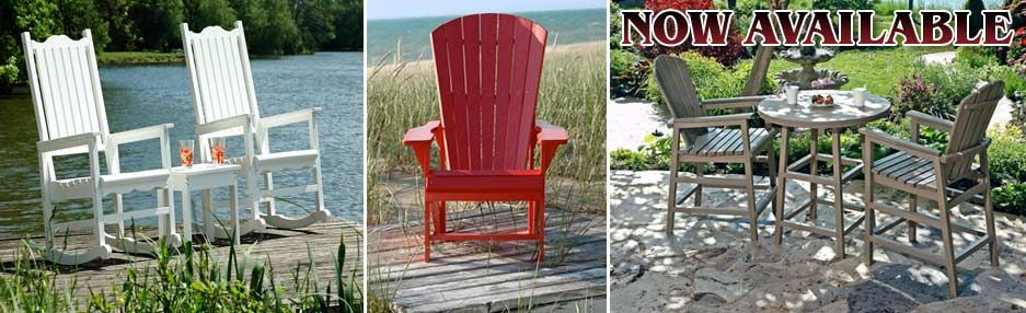AVAILABLE At DJS FURNITURE: Canadian Made, Recycled Plastic, Completely  Weatherproof Outdoor Furniture:
