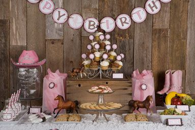 Cowgirl Theme Cupcake Toppers Happy Birthday By Getthepartystarted