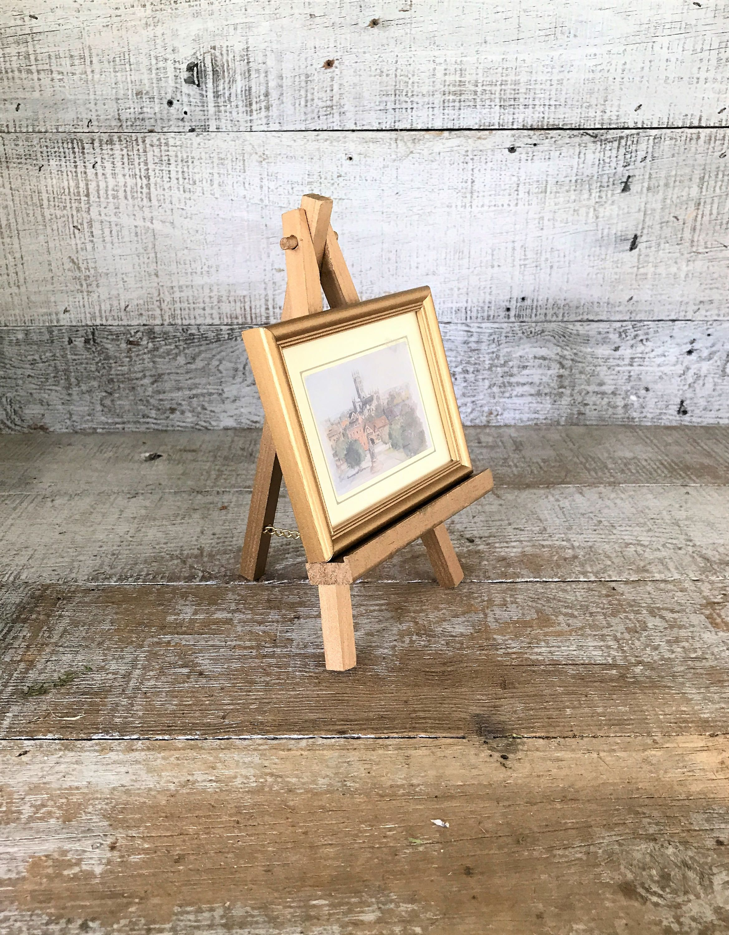 Easel Wood Easel Small Gold Easel Plate Holder Plate Stand Craft Booth Decor Display Stand Handmade & Easel Wood Easel Small Gold Easel Plate Holder Plate Stand Craft ...