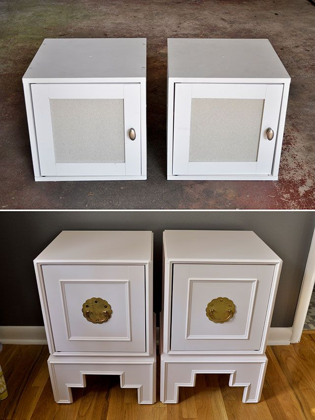 Wall Mounted Ikea Cubes Transformed Into Modern Asian Nightstands Diy Ikea Hacks Asia