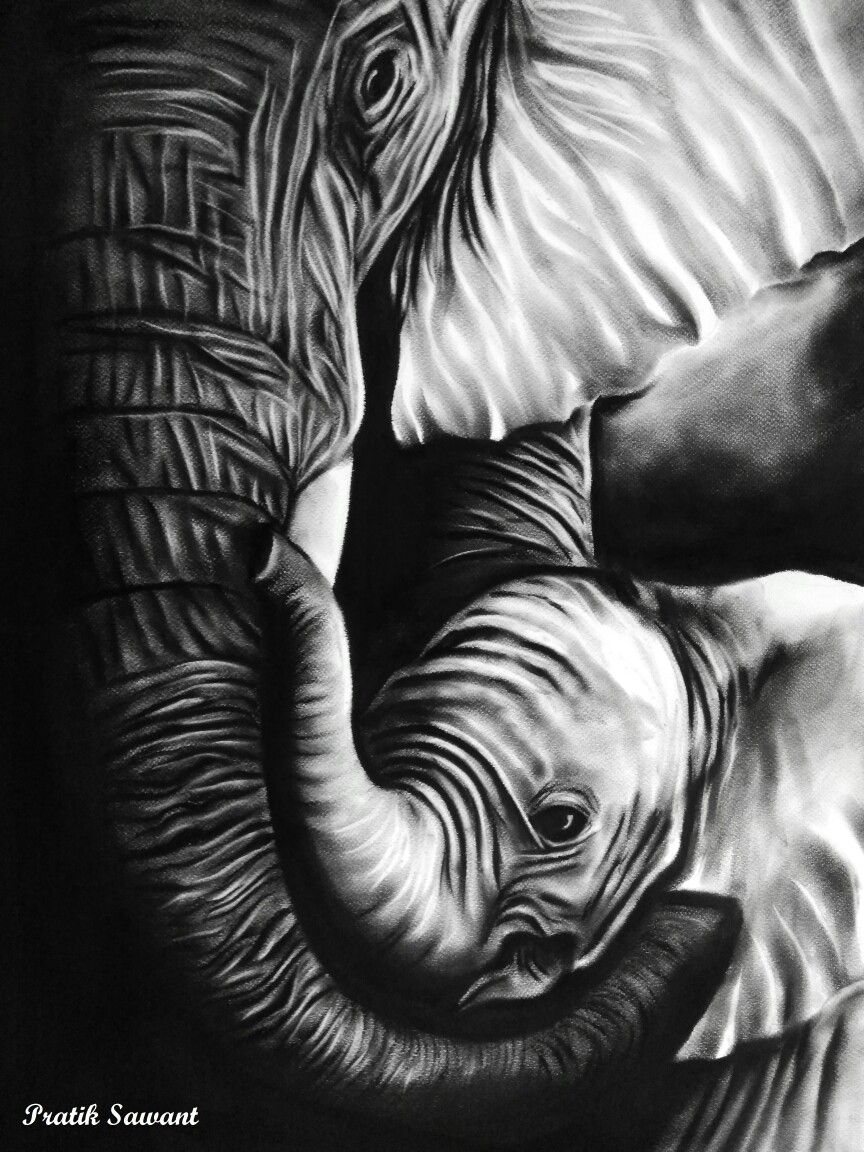 Charcoal painting! | Charcoal paint, Animal tattoo, Painting