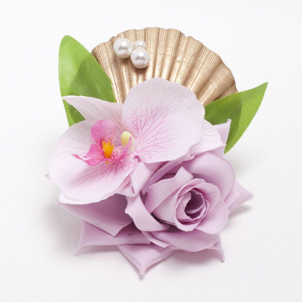 New Siren Gold Shell Pink Hair Flower Httpbad Kittyp
