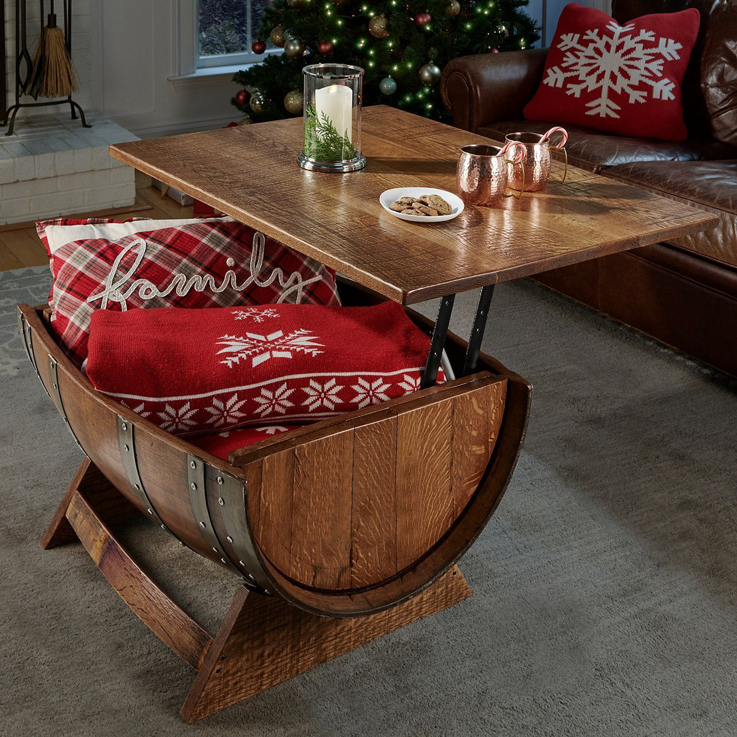 10 Cool Diy Barrel Coffee Table Ideas For Your Living Room In 2020 Wine Barrel Coffee Table Barrel Coffee Table Whiskey Barrel Furniture