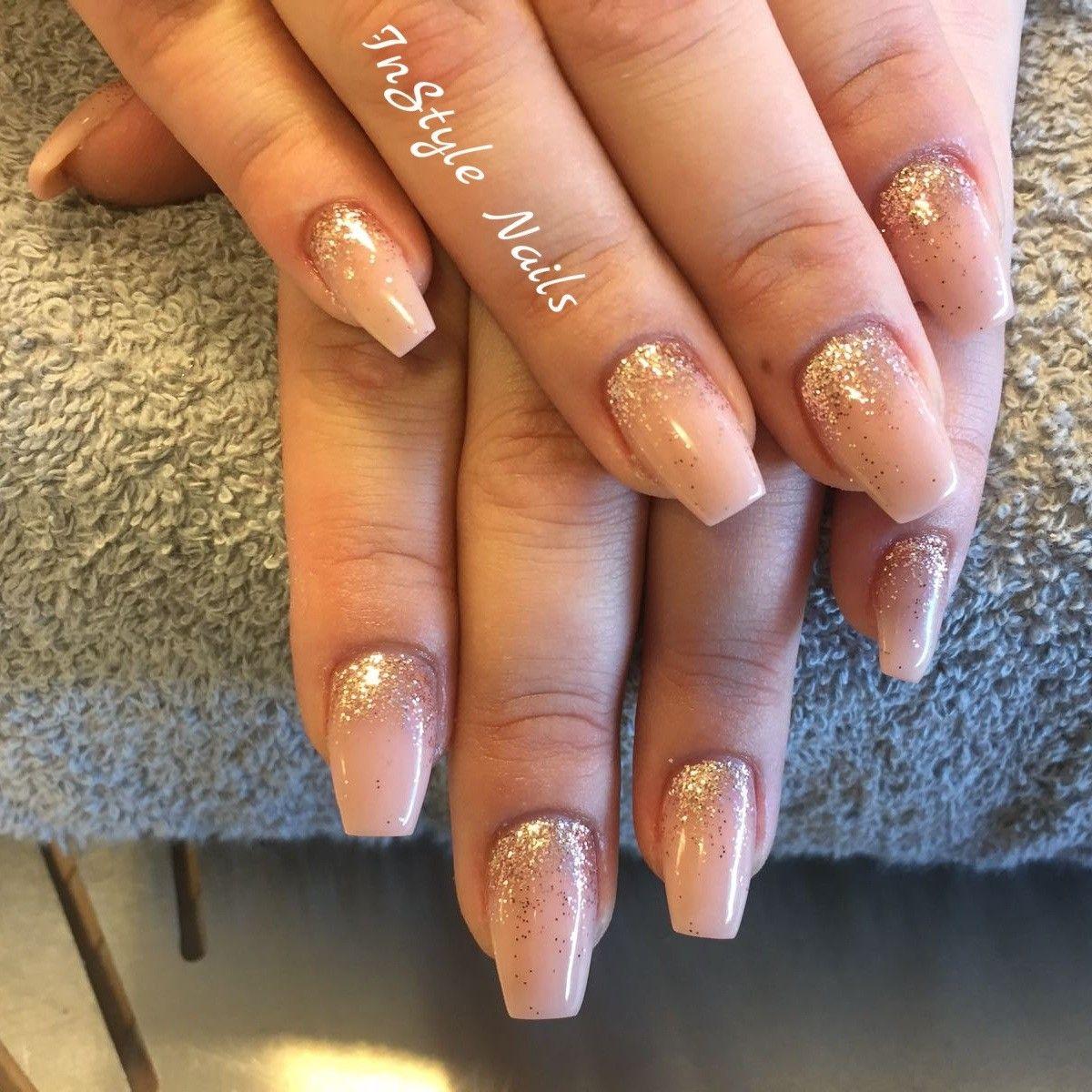 Acrylic Nails nail art glitters ##instylenails | nails | Pinterest ...
