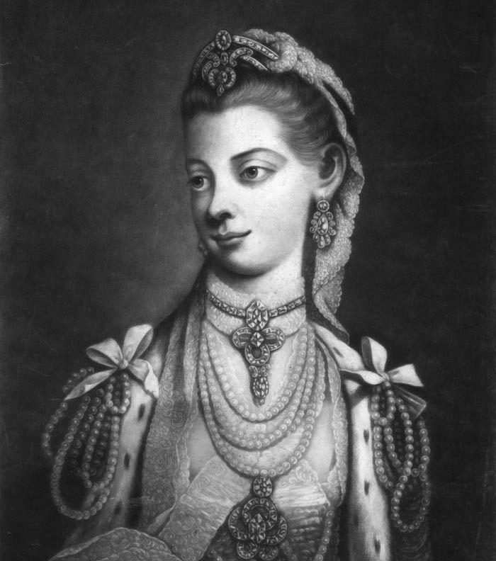 Reina de Inglaterra Carlota de Mecklenburg-StreLitz.