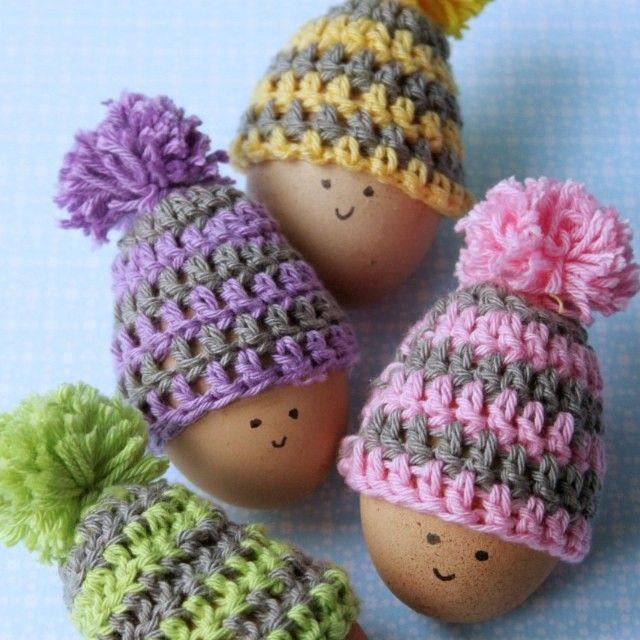 Cute Crochet Egg Cozy Pattern | Häkeln | Pinterest | Häkeln, Ostern ...