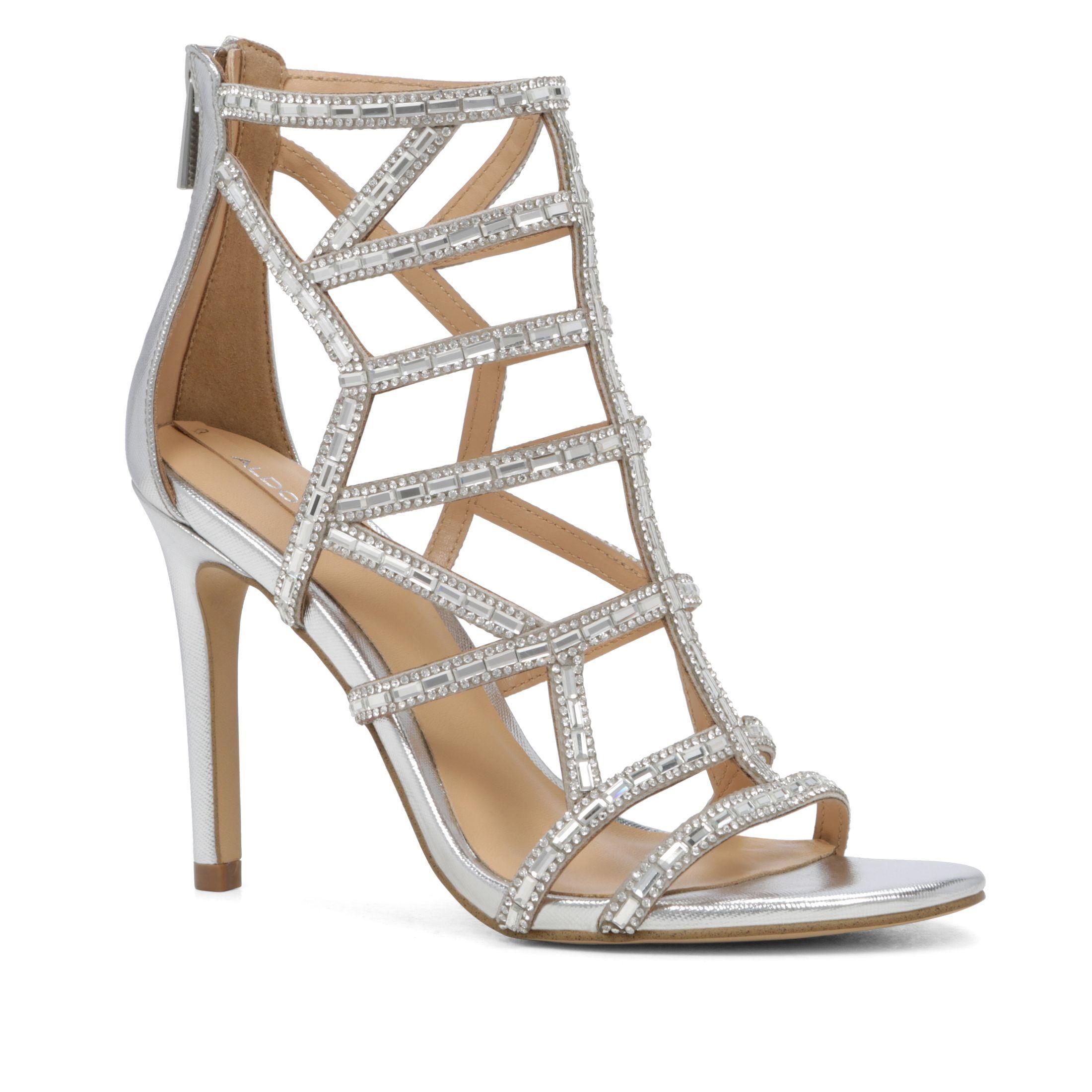 45c1f745a8 Aldo Norta cage stiletto heel sandals, Silver   Shoes   Stiletto ...