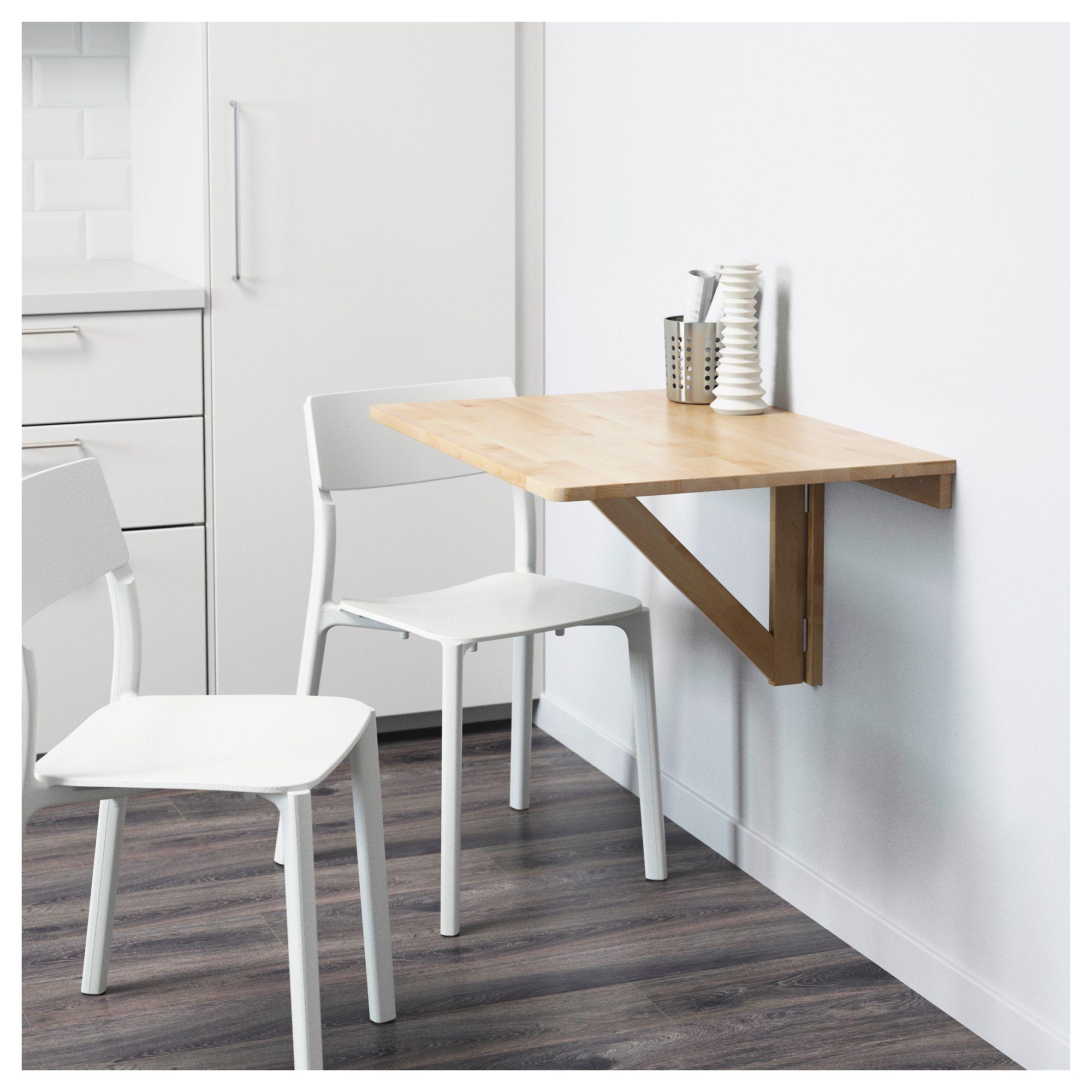 norbo wall mounted drop leaf table birch 79x59 cm drop leaf table rh pinterest com