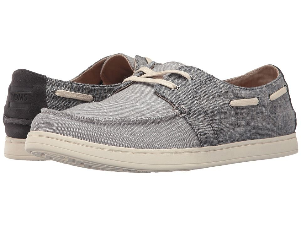 TOMS TOMS - CULVER LACE-UP (DARK NAVY/DRIZZLE GREY SLUB CHAMBRAY)