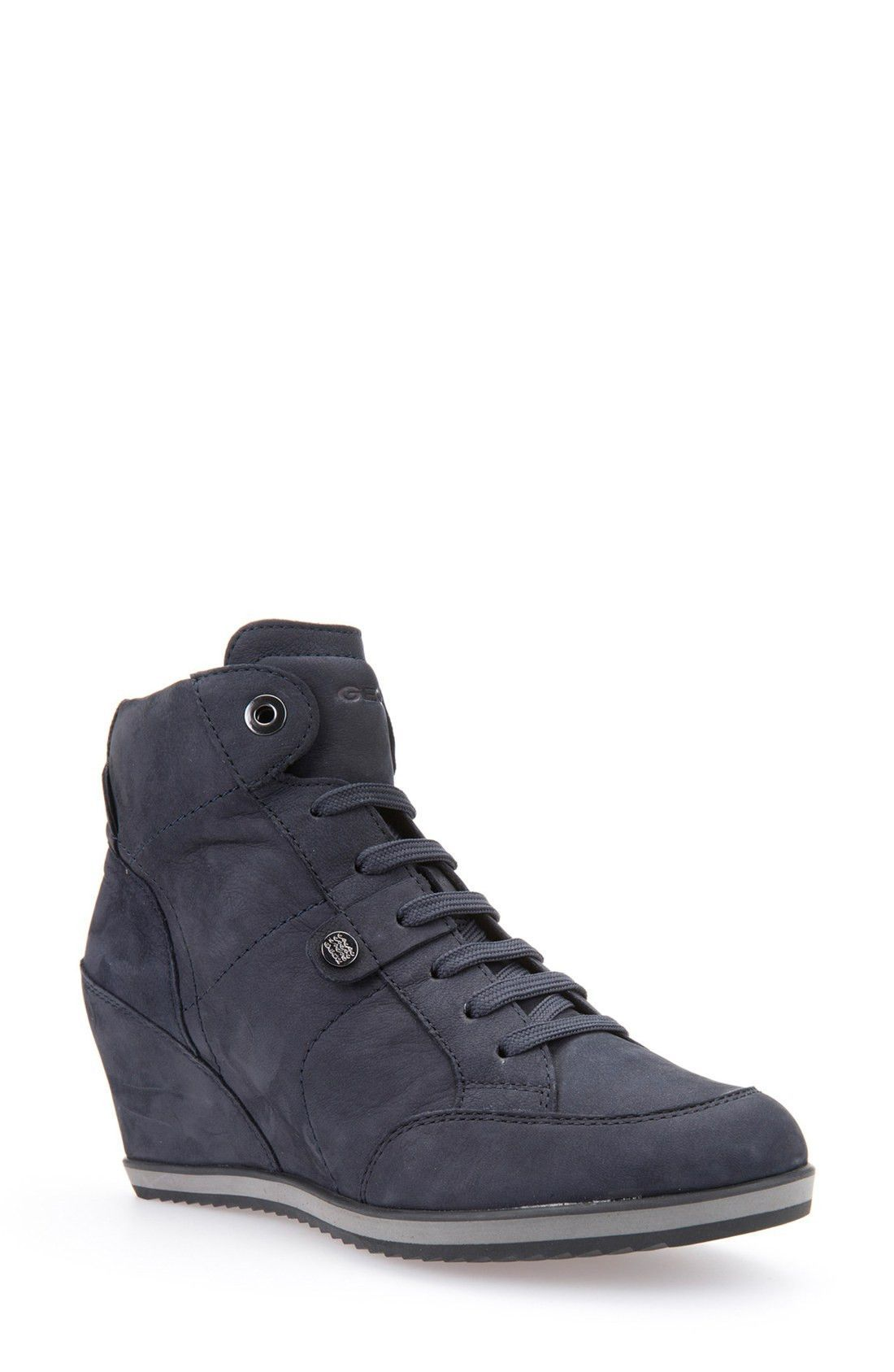 f7db4dafd6 Geox 'Illusion 25' High Top Wedge Sneaker (Women) | Shoes | High top ...