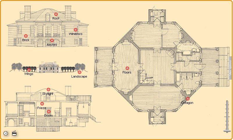 Thomas Jefferson's Poplar Forest floor plan, his home of ...