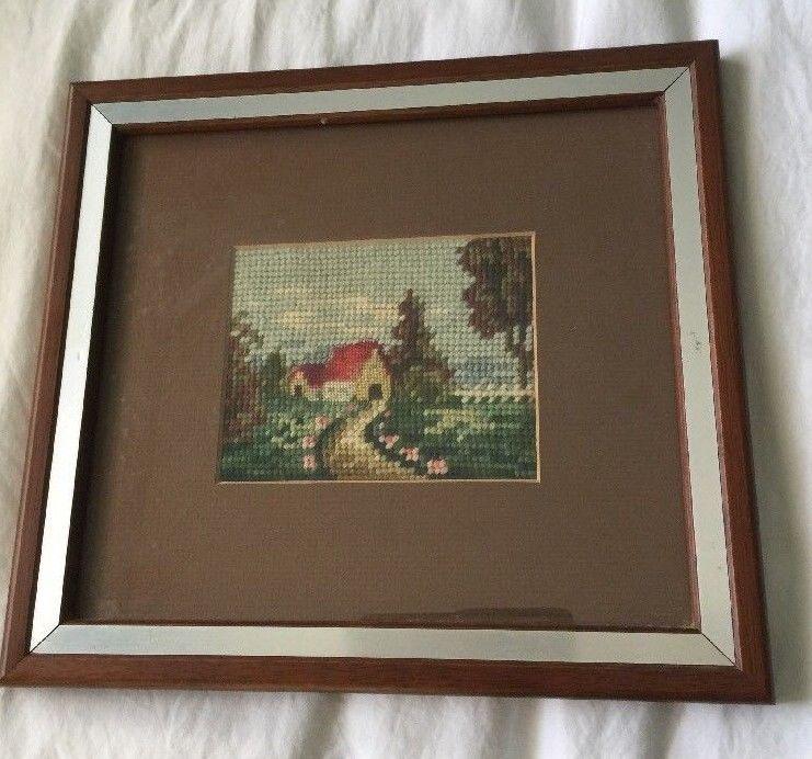 Funky Needlepoint Frame Composition - Framed Art Ideas ...