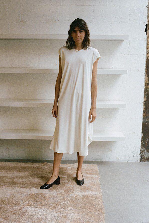 EASY DRESS, OFF WHITE